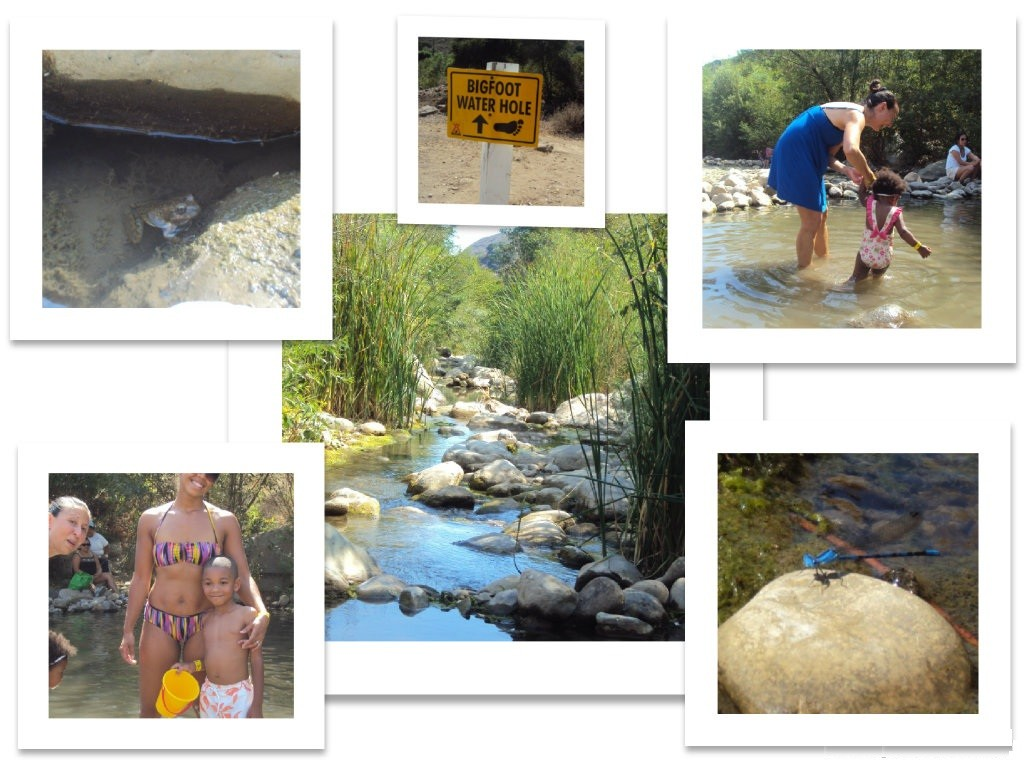 Santa Paula Creek and the Big Foot Water Hole at KOA Ventura