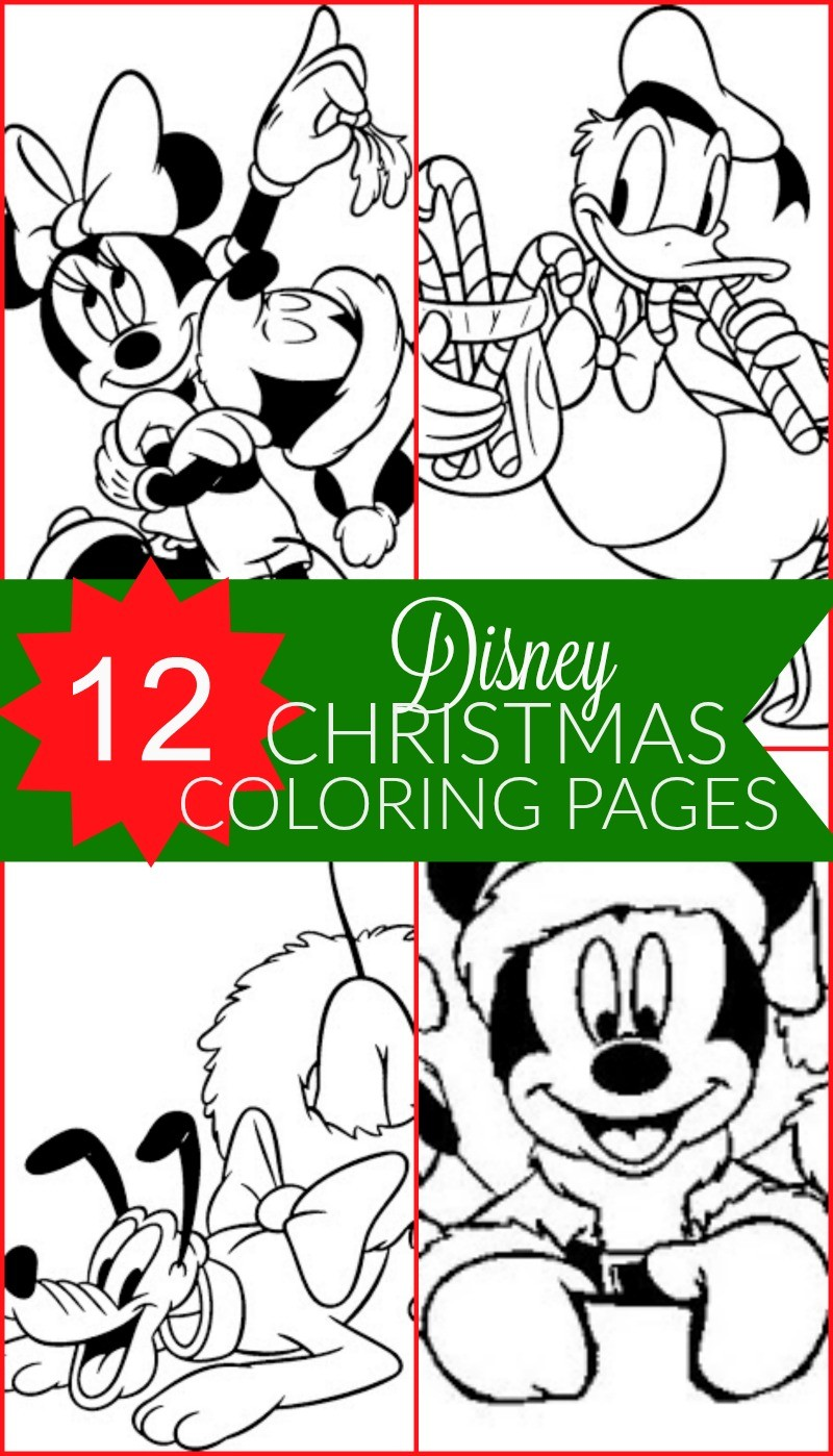 12 free disney christmas printable coloring pages mickey mouse minnie donald goofy