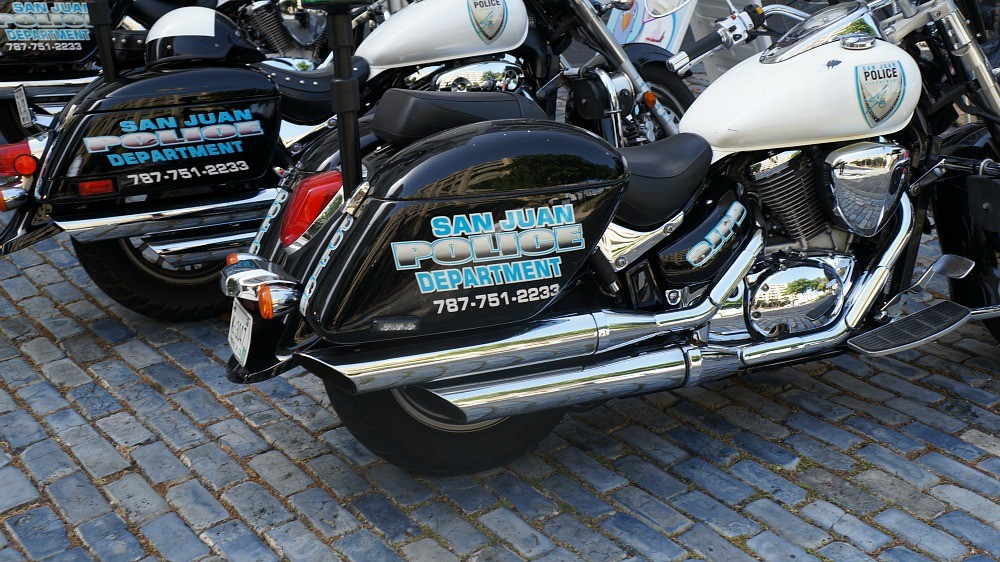 San Juan Police Department motorcycles