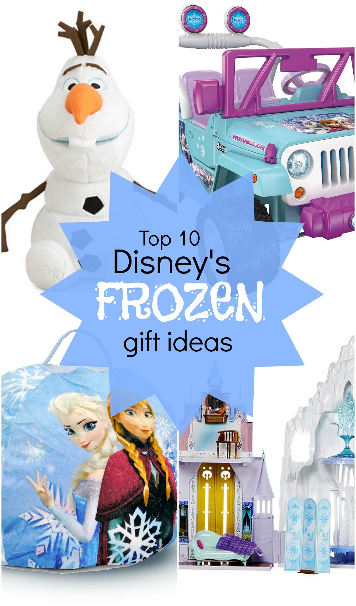 Top 10 Disney's FROZEN holiday gift ideas for kids who love the movie FROZEN
