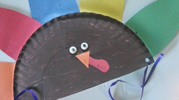 Cute Thanksgiving Craft for Kids, Make a Paper Plate Turkey Hat